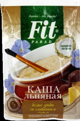 Каша льняная Белые грибы со сливочным сыром, порционная (1 шт.)