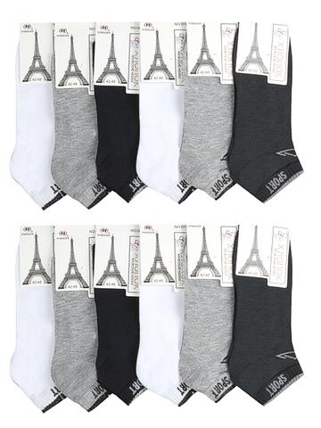 D10 носки мужские 42-48 (12шт), цветные