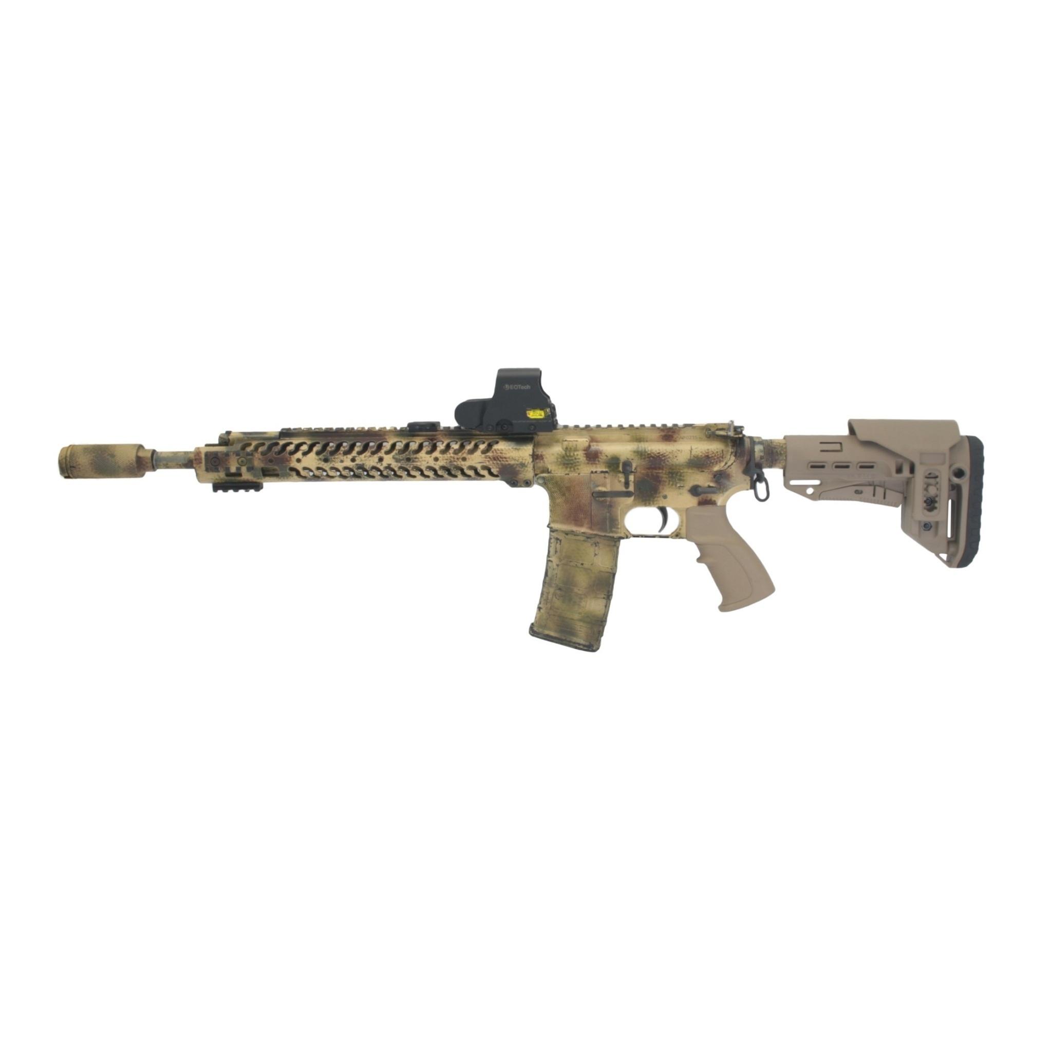Короткий подщечник для AR для приклада TBS Compact, DLG Tactical - в сборе