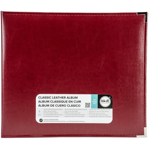 Альбом  на кольцах для Project Life Classic Leather D-Ring Album 30х30 от WeR - экокожа. Wine