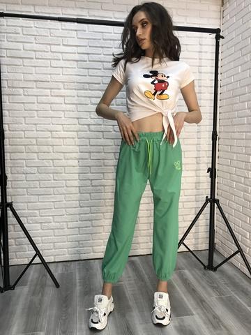 Спортивные штаны зеленого цвета Nadya