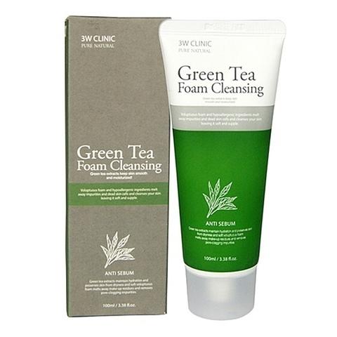 Пенка очищающая 3W Clinic Green Tea Foam Cleansing