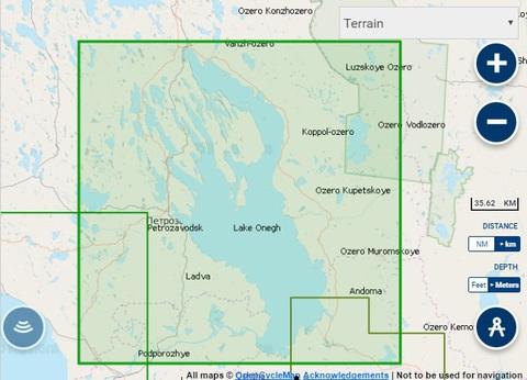 Карта: Онежское озеро, Navionics+ Small 5G634S2