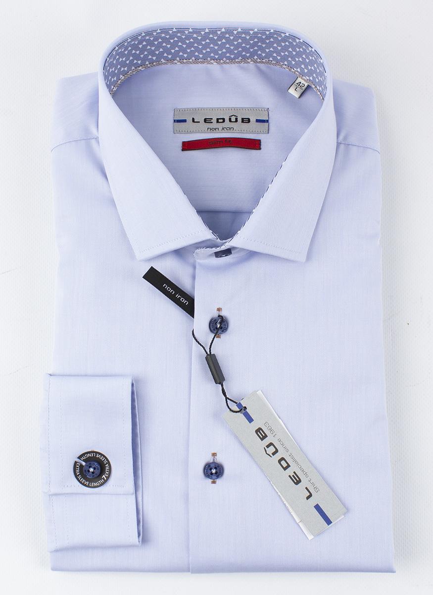 Рубашка Ledub slim fit 0136803-120-000-000-SF-Blue