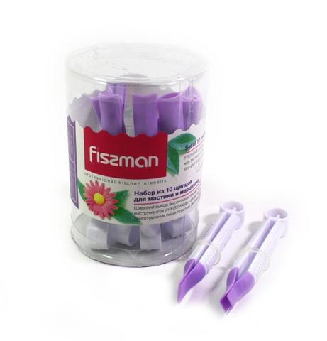 8465 FISSMAN Набор из 10 щипцов для мастики и марципана 10x1,2 см,  купить