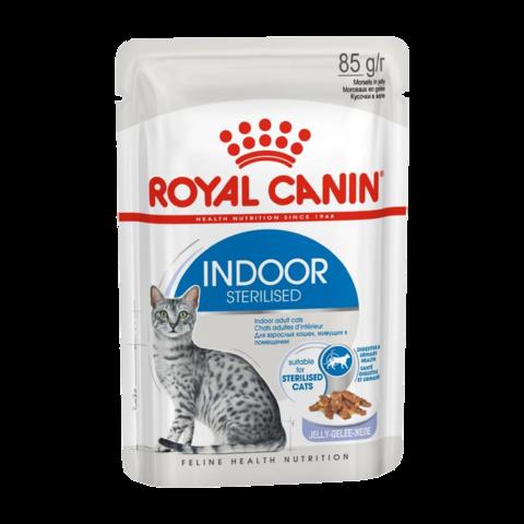Royal Canin Indoor Sterilised Консервы для кошек живущих в помещении (кусочки в желе)
