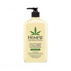 Hempz - Уход для тела: Молочко для тела увлажняющее Ананас и Медовая Дыня (Sweet Pineapple & Honey Melon Herbal Body Moisturizer), 500мл