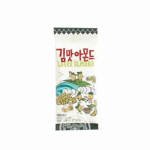 Миндаль обжаренный Toms Laver со вкусом морской капусты 30г Корея