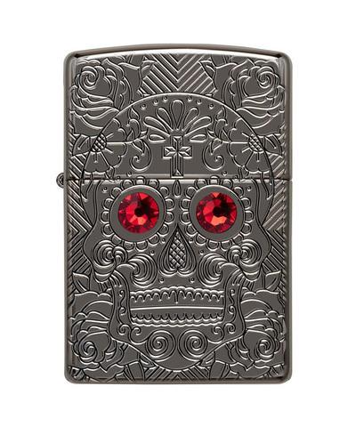 Зажигалка Zippo Crystal Skull Design 49300