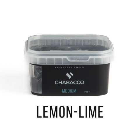 Кальянная смесь Chabacco - Lemon-lime (Лимон-лайм) 200 г