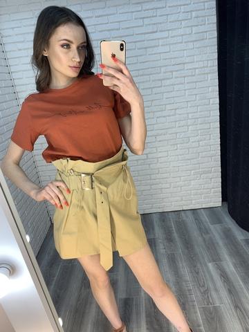 юбка с ремнем на талии недорого