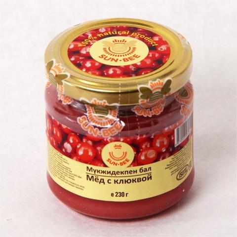 Мед SUN-BEE с клюквой 230 г ст/б КАЗАХСТАН