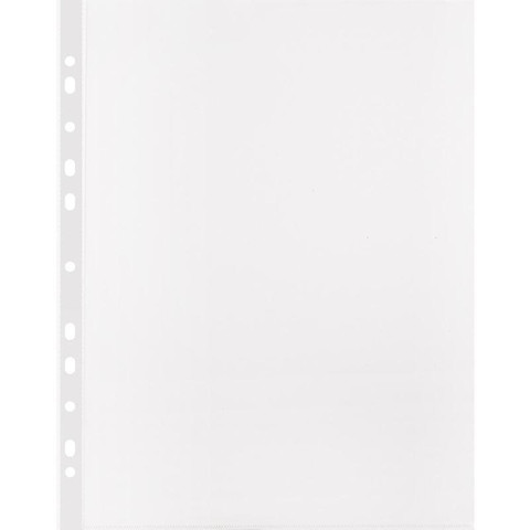 Файл-вкладыш Attache Стандарт А4 30 мкм прозрачный гладкий 100 штук в упаковке