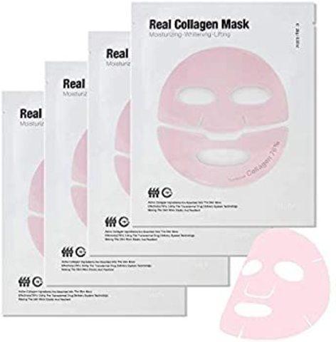 Набор гидрогелевых антивозрастных масок Meditime Real Collagen mask 4еа