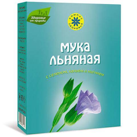Мука льняная, Компас Здоровья, с селеном,калием,магнием, 300 г