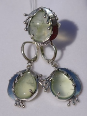 Кейти (кольцо + серьги из серебра)