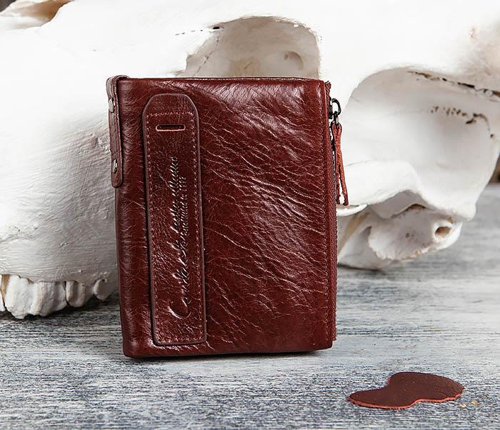 WL250-3 Красный мужской кошелек из натуральной кожи
