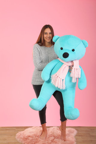 М'яка іграшка Garment Factory великий ведмідь 1,5м, бірюзовий