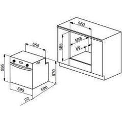 Встраиваемый духовой шкаф Korting OGG 741 CRN - схема