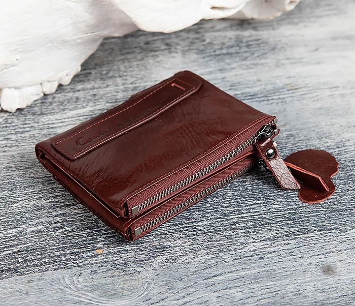 WL250-3 Красный мужской кошелек из натуральной кожи фото 02