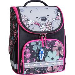 Рюкзак школьный каркасный с фонариками Bagland Успех 12 л. черный 406 (00551703)
