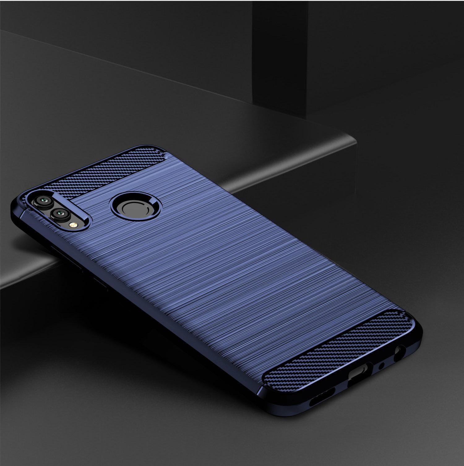 Чехол для Honor 8X цвет Blue (синий), серия Carbon от Caseport