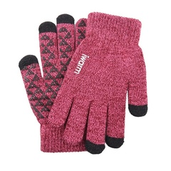 Вязаные мужские перчатки с тачскрином IWARM (Перчатки для сенсорных экранов) красные