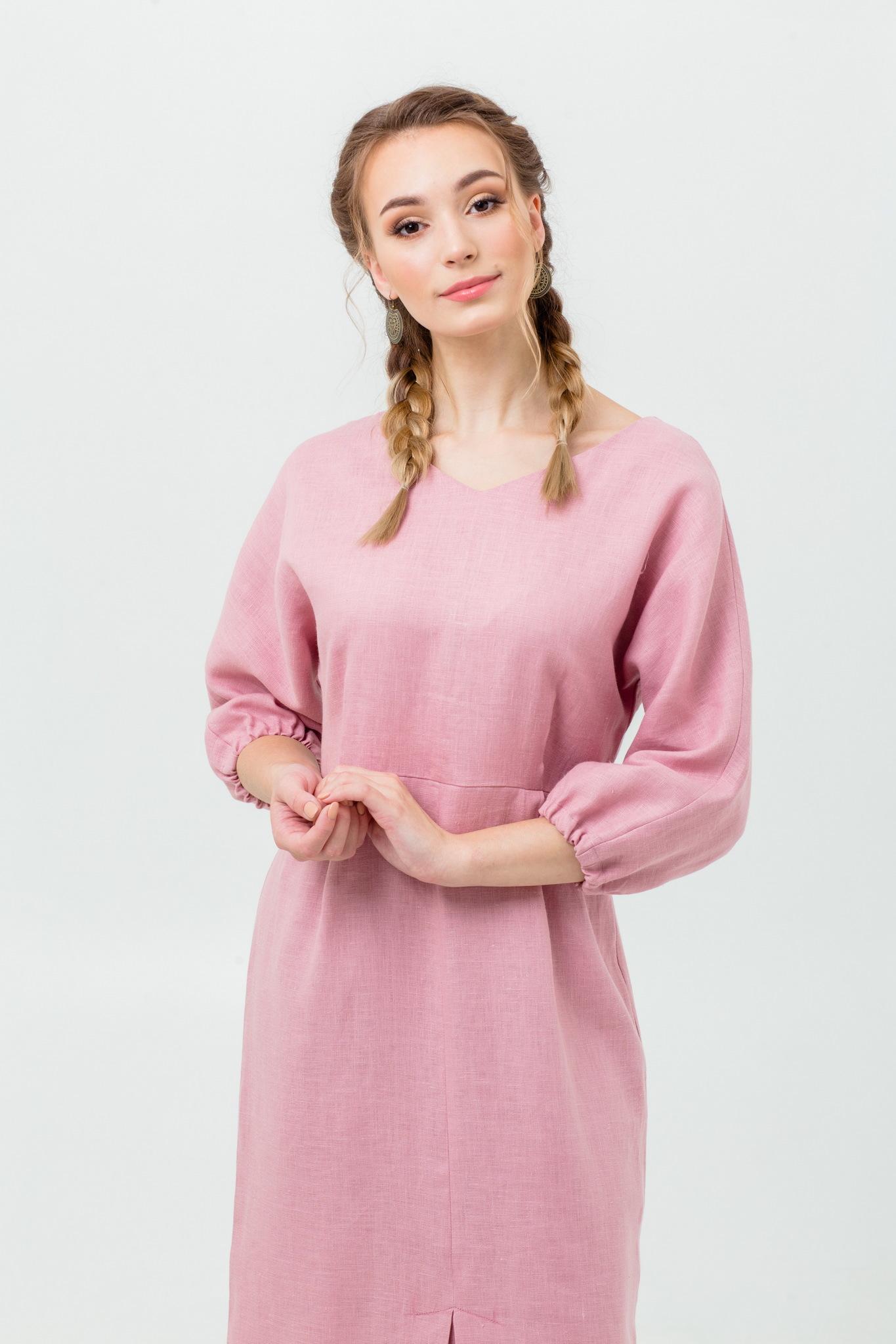Славянское платье Нежный румянец
