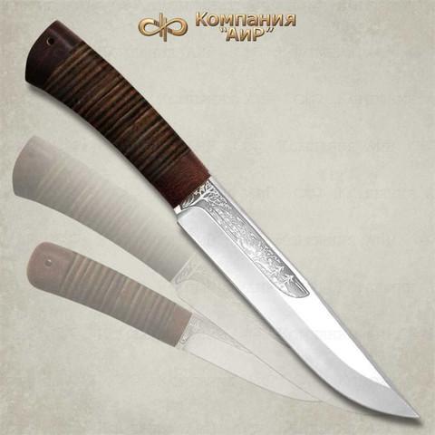 Нож Шашлычный большой, кожа, 100х13м