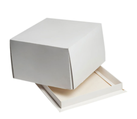 Коробка для торта 17*17*10см без окна, белая