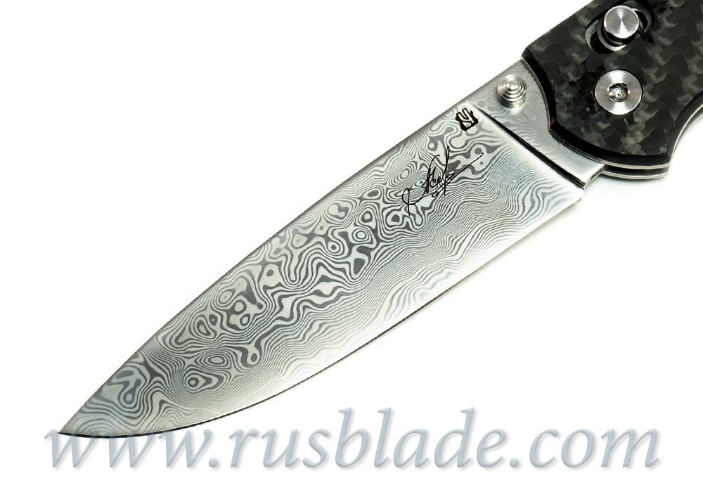 Cheburkov Scout Damascus Folding Knife - фотография