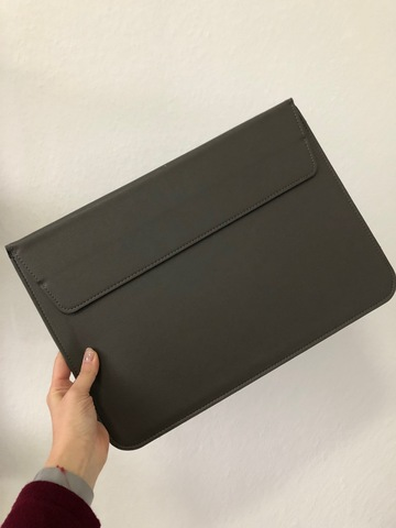 Папка конверт для MacBook PU sleeve bag 15'' /coffee/