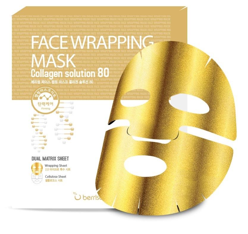 Маски для лица Маска тканевая для лица с коллагеном Berrisom Face Wrapping Mask Collagen Solution 80 8809211652518.jpg