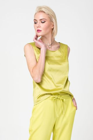 Фото блуза базовая прямого силуэта c лёгким блеском - Блуза Г676-165 (1)