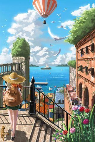 Картина раскраска по номерам 50x65 Навстречу путешествиям