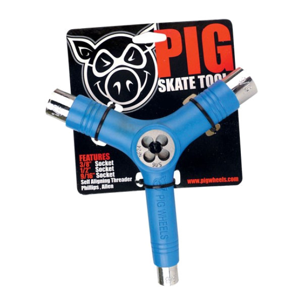 Ключ для скейта (скейт тул) PIG Skate Tool (Blue)