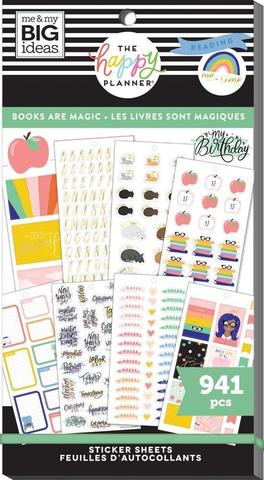 Блокнот со стикерами для ежедневника Create 365 Happy Planner Value Pack Stickers - Books Are Magic- 596 шт