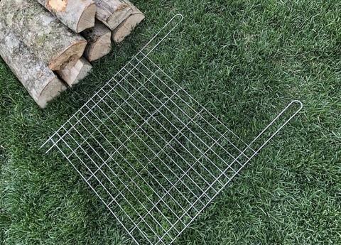 Плоская сетка на мангал 40х30 см