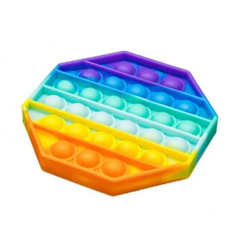 Игрушка антистресс многоугольник Вечная пупырка Pop, радужная