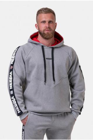 Мужская толстовка Nebbia Unlock the Champion sweatshirt 194 Light grey