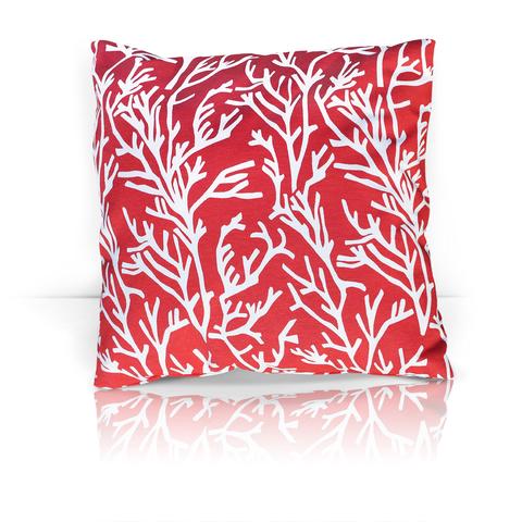Подушка декоративная Кораллы красный уличная коллекция