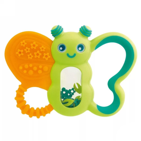 Прорезыватель-игрушка Funny Relax Бабочка,с погремушкой,6мес.+ (стандарт)