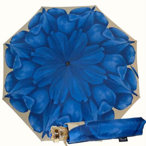 Зонт Pasotti голубой георгин, ручная работа