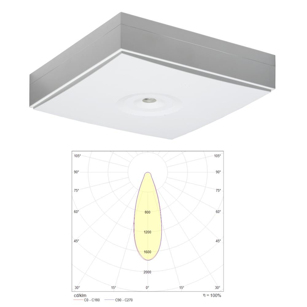Аварийные потолочные светодиодные светильники для больших высоких помещений ZONESPOT II HIGHBAY IP44 Teknoware