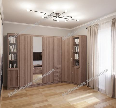 Спальня с ТВ-тумбой