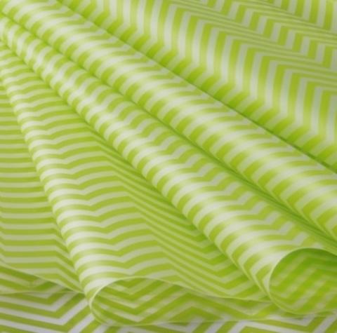 Пленка матовая Зигзаг (размер: 70см х 10м), цвет: салатовый