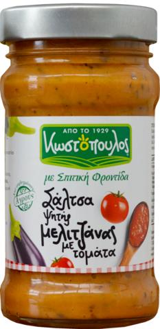 Закуска из запеченных в оливковом масле греческих баклажанов с томатами KOSTOPOULOS 300 гр
