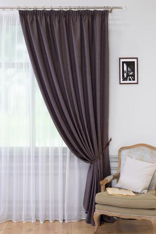 Готовая штора креп Ирен темно-коричневый
