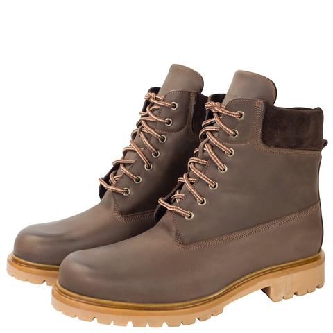 496478 ботинки мужские коричневые нубук. КупиРазмер — обувь больших размеров марки Делфино