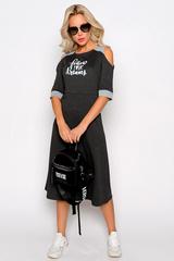 <p>Хит! Хит! Хит! Идеальное платье для летнего настроения. Принт по переду изделия придаст изюминку Вашему образу. Длины:( 46-48р-104см, 50-52р- 106см).</p>